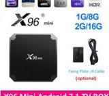X96 Mini Android TV Box Amlogic S905W Smart Android 7.1 WiFi TV Box 1G 8G/2G 16G Media Player 100M L