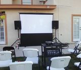 PA System + Projector and screen for Hire