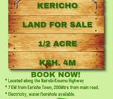 1/2 ACRE KERICHO LAND FOR SALE