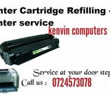 Toner and ink cartridges refilling