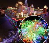 Led light string 10m 100m outdoor fairy bulb christmas garden lights lighting