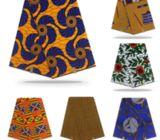 Kitenge 6 Yrds. Quality Wax Print Cotton African Print