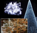 Snowflakes String Fairy Lights Hanging Christmas Tree Ornaments Party LED Decor
