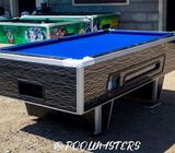 Pool table made of marine board