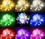 String Light Lamp 100m LED 10m Fairy Wedding Party Decor Outdoor