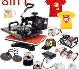 Best Sell Heat Press Machine 8 in 1 Combo Machine