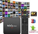 MXQ Pro Android 7.1 Smart TV Box 8G/16G Quad Core 4K HD 2.4GHz Media Player