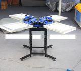 New Manual  4 color 4 station t shirt printing machine silk screen printing.