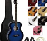 Guitar set including bag, strap, pick and spare strings