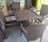Classic Rattan Furniture Dining Set Outdoor Or Indoor Patio Furniture