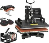 5 in 1 Swing-Away Digital Transfer Sublimation Heat Press Machine Hat/Mug/Plate/Cap/T-Shirt Multifun