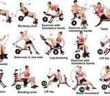ABS Fitness Machine with Pedals