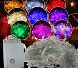 Extendable LED String Lights with Male and Female Safe Plug, could be extended to a maximum of 5 lig