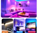 Power Adapter RGB LED Strip Lights 5M Music Control for Home