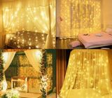 300LED Curtain Hanging Fairy String Lights Christmas Wedding Party Home Garland