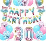 Birthday Balloons Age Ballon 30th 18th 21st B'day Party Decor Baloons
