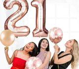 Rose Gold Series Foil Latex Balloon Helium Star DIY Decor Wedding Party O8W9