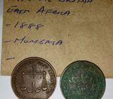 1 Piece, Calcutta 1888 British East Africa Company, Mombasa