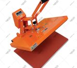 Orange Flatbed Heat Press Machine