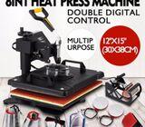 Multifunction 8 In 1 sublimation Heat Press/Heat Transfer Machine