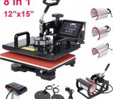 12x15Inch 8pcs Heat Press Machine 1050W Multifunctional