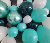 Oopat Tiffany and Teal Balloon Garland Arch Kit for Boys 1st Birthday Christening Baby Shower Bridal