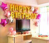 Gold Foil Happy Birthday Balloon Decor