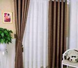 Plain blackout curtains