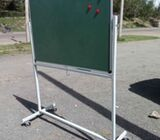 Free standing single sided magnetic noticeboard